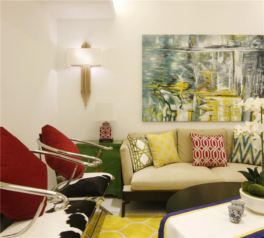 大户型混搭风格四居客厅装修效果图