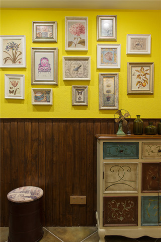 110平美式乡村风格装修玄关柜设计图
