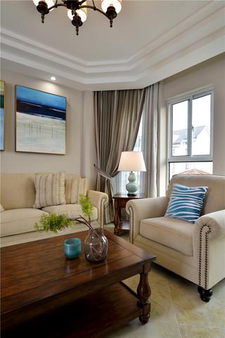 168平简美风格四居装修客厅一角