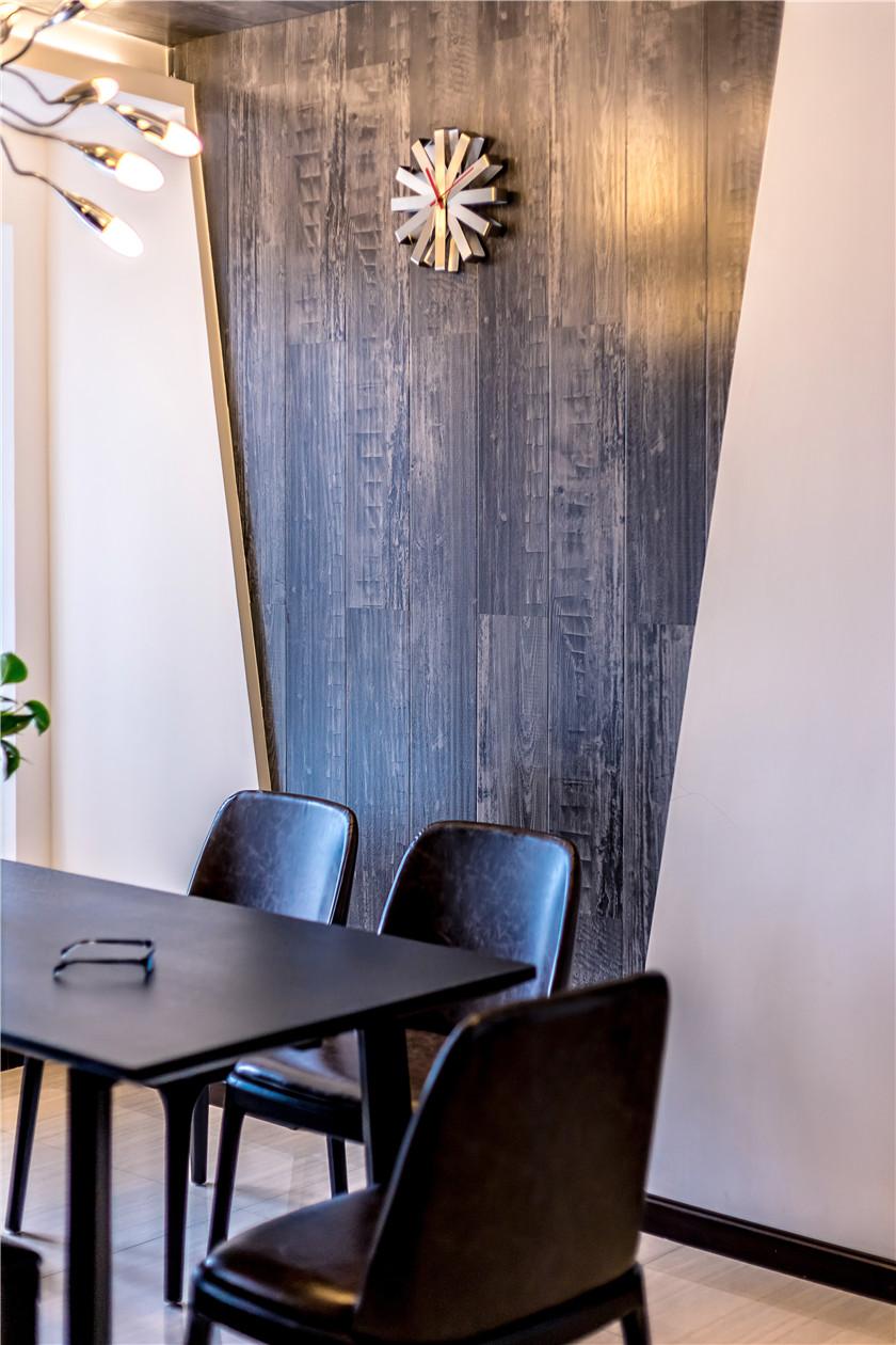 现代混搭风格二居室餐厅背景墙装修效果图