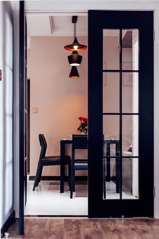 98㎡时尚现代风格装修餐厅吊灯设计图