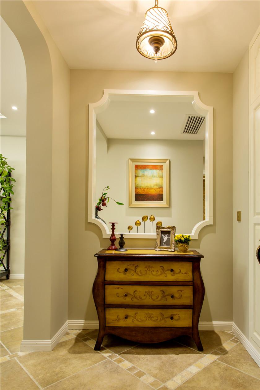 360平美式风格别墅玄关装修效果图