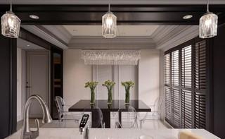 140平米三居室餐厅装修设计图