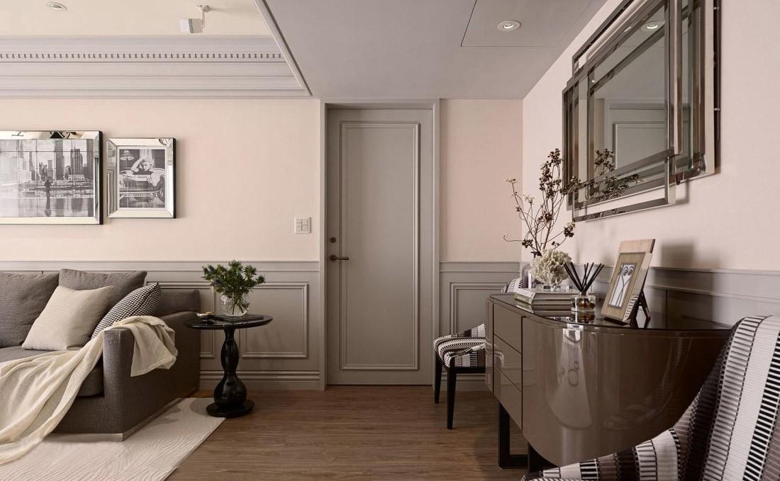 140平米三居室装修客厅边柜设计图