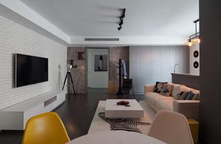 极简北欧风三居客厅装修效果图