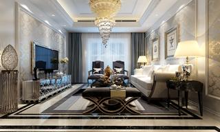 奢华欧式风格三居装修效果图