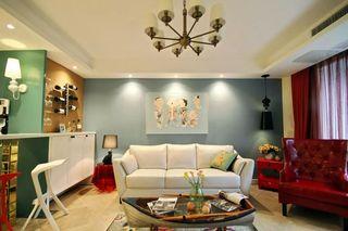 135㎡混搭风格沙发背景墙装修效果图