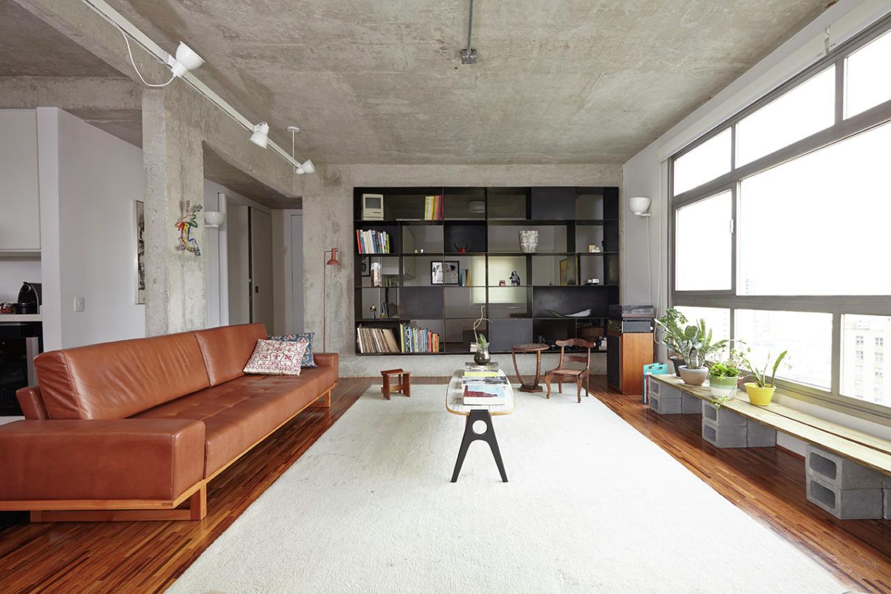 工业风格一居室客厅装修设计图