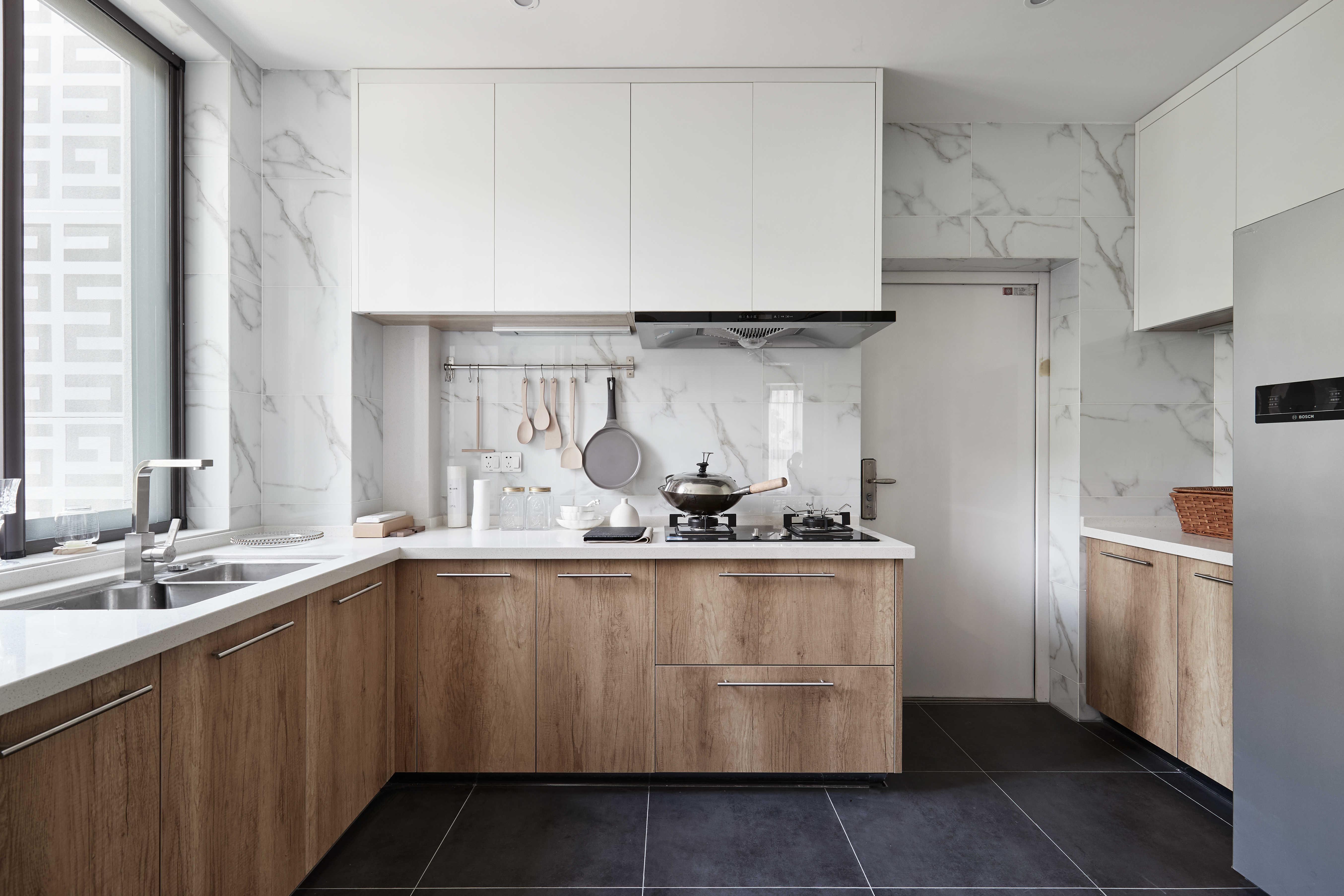 136平自然简约风厨房装修效果图
