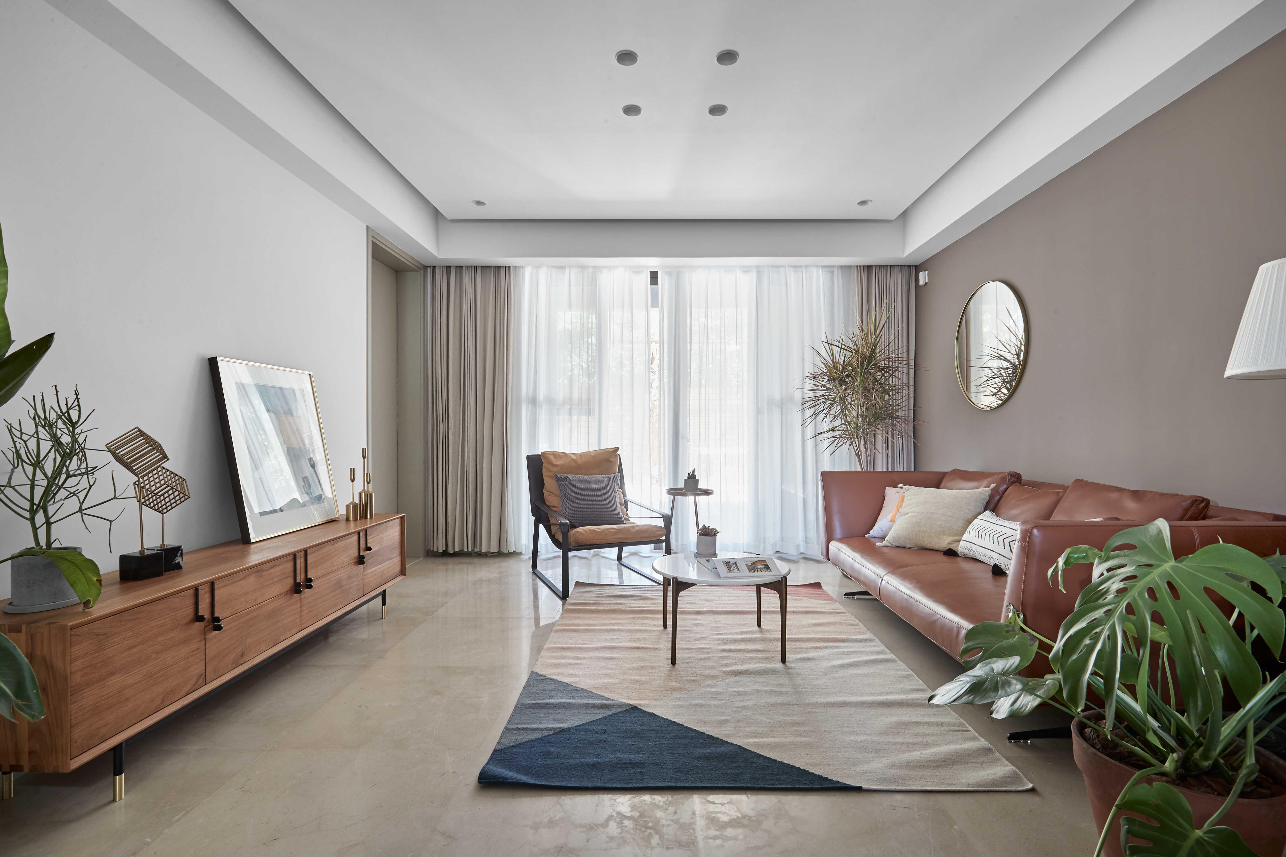 简约休闲三居室客厅装修效果图