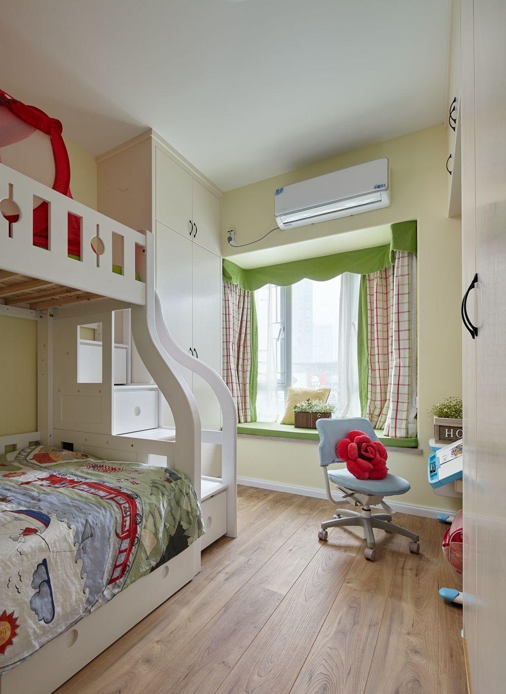 78平北欧二居装修儿童房飘窗设计图