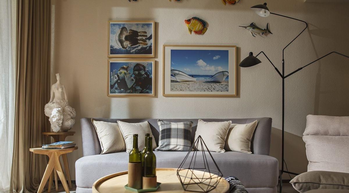 小户型北欧风两居室装修客厅布置图