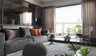 后现代风格三居室装修沙发设计图