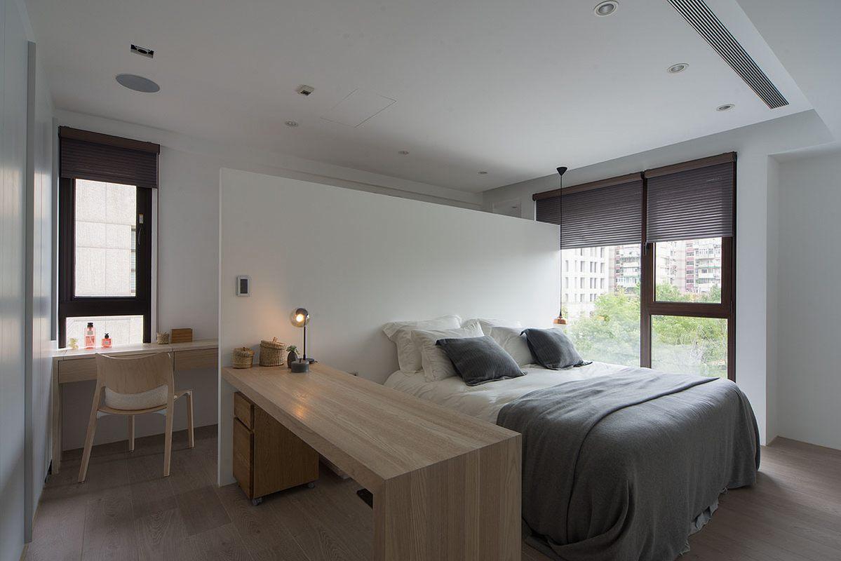简约原木风两居卧室装修效果图