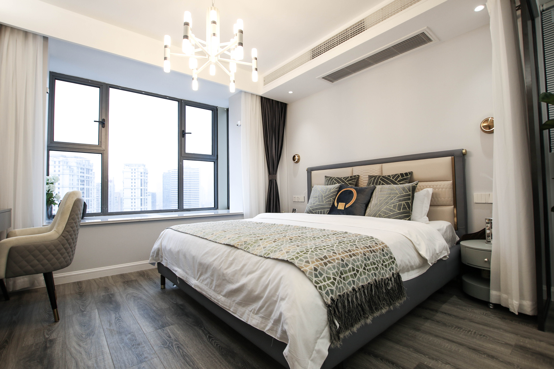 现代轻奢一居卧室装修效果图