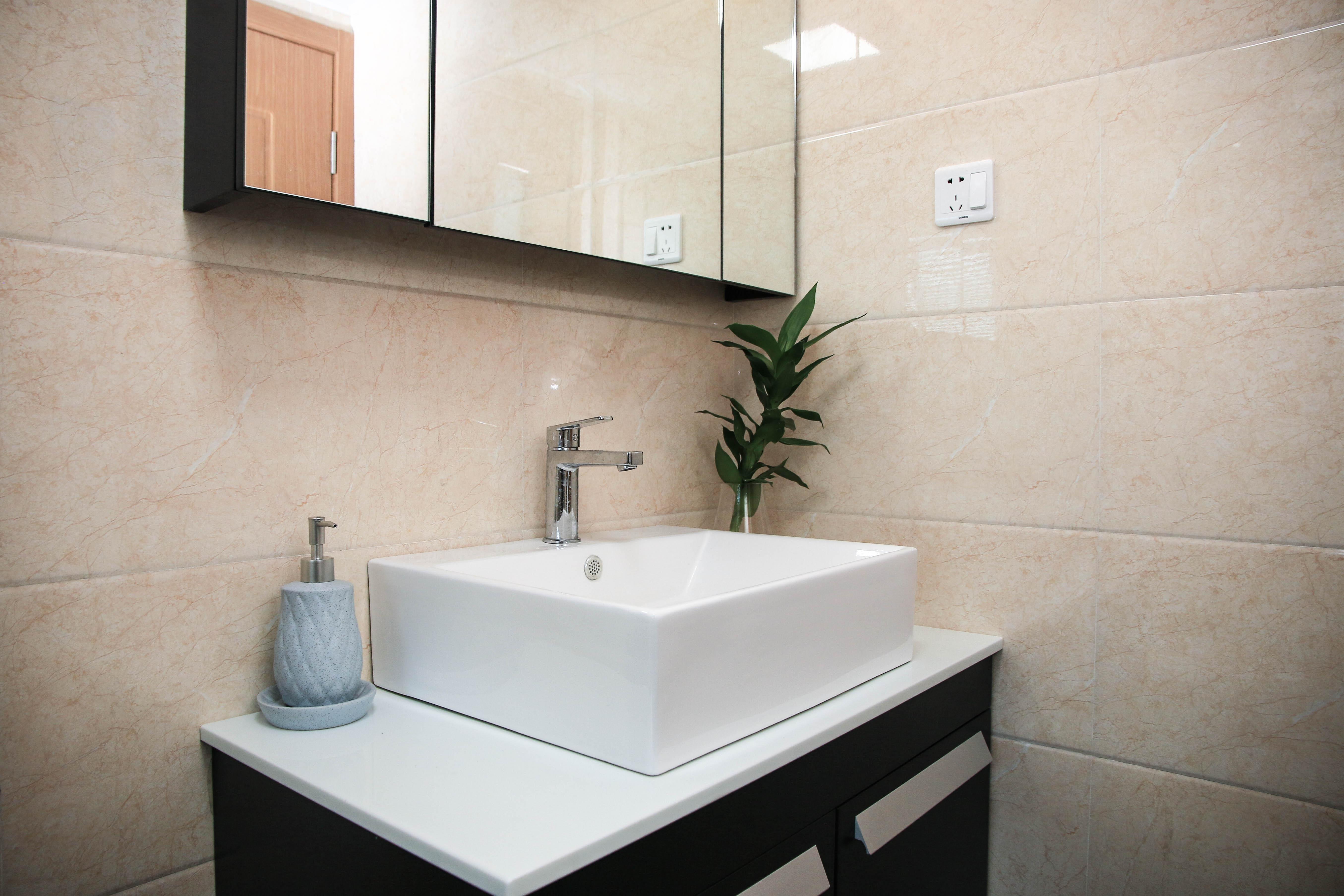 65㎡北欧风二居装修洗手台设计图