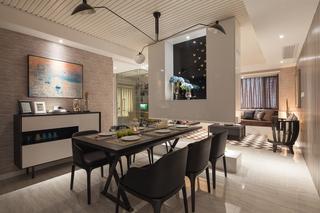 145平现代风格三居装修效果图