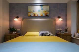 小户型清新北欧风装修卧室背景墙设计图