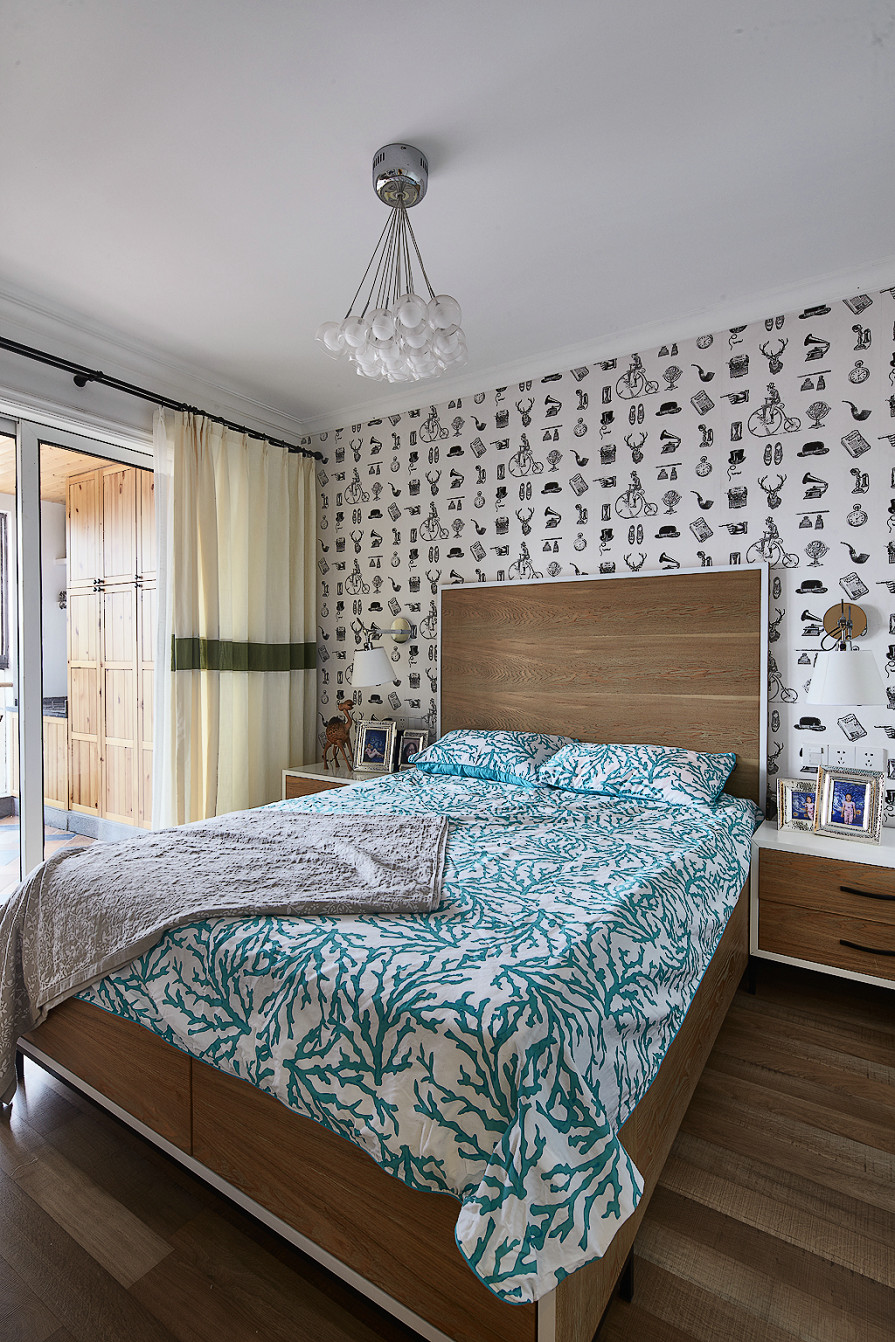 125㎡北欧风格三居卧室装修效果图