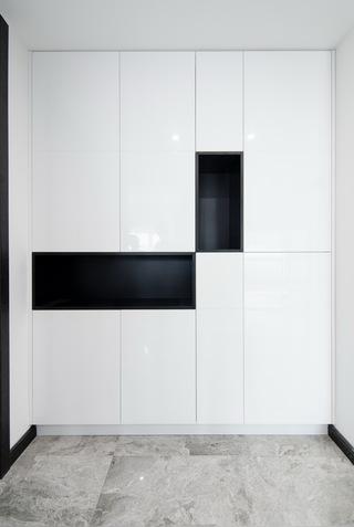 现代简约大户型装修玄关柜设计图