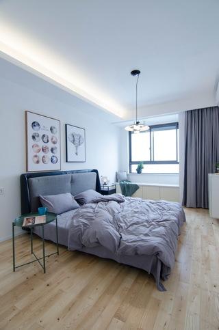 现代北欧风三居卧室装修搭配图