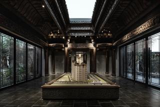 古典中式售楼部装修设计图