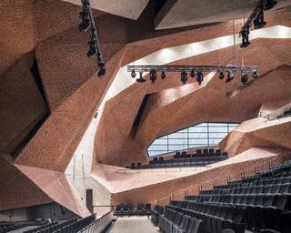 红色马赛克音乐厅设计效果图