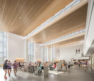 现代简约大学食堂设计效果图