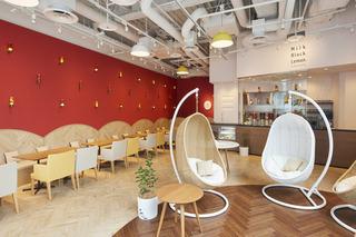 奶茶店装修设计 热情温馨