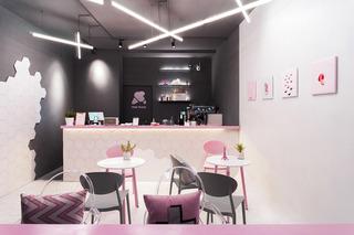 粉色冷饮店装修设计图
