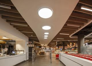超市入口走道设计效果图