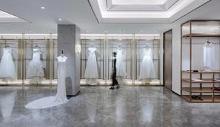 高级灰婚纱店装修设计图