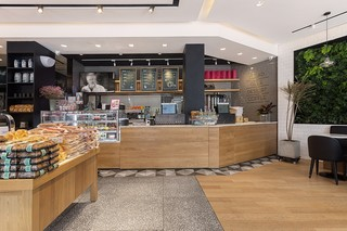 面包咖啡店面装修设计图