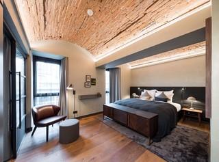 复古工业风星级酒店客房设计图