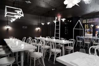 黑白风主题餐厅装修效果图