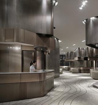 酒店前台装修设计效果图
