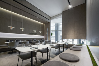 灰色调西餐厅装修效果图