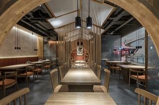 新中式风小吃店装修设计图