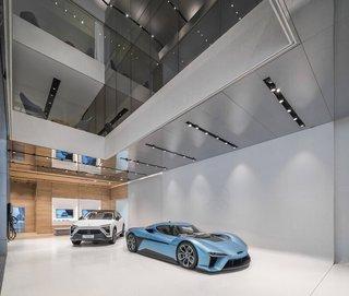 简洁现代汽车店展厅设计图