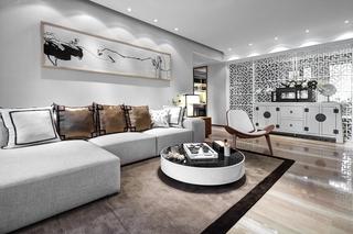 大户型新中式沙发背景墙装修设计图