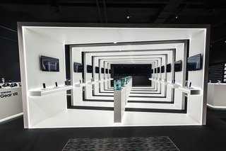 黑白风手机数码店设计效果图