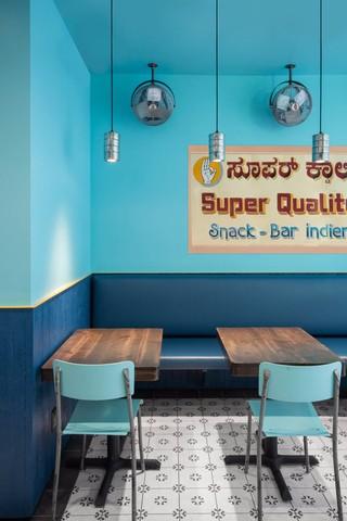 蓝调印度小吃店装修设计图