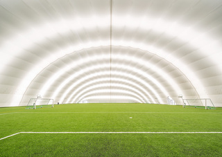 充气足球场设计效果图