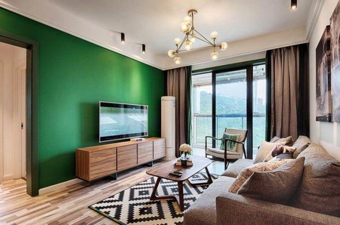 [装修案例]两室一厅90平米混搭北欧风格装修效果图