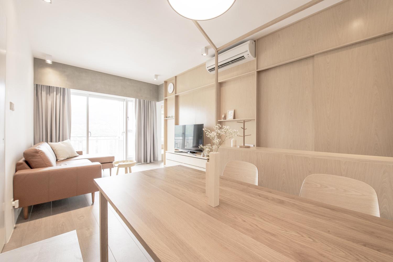 自然简约风公寓装修餐桌设计图