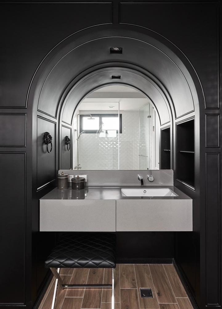 现代风格公寓洗手台装修效果图