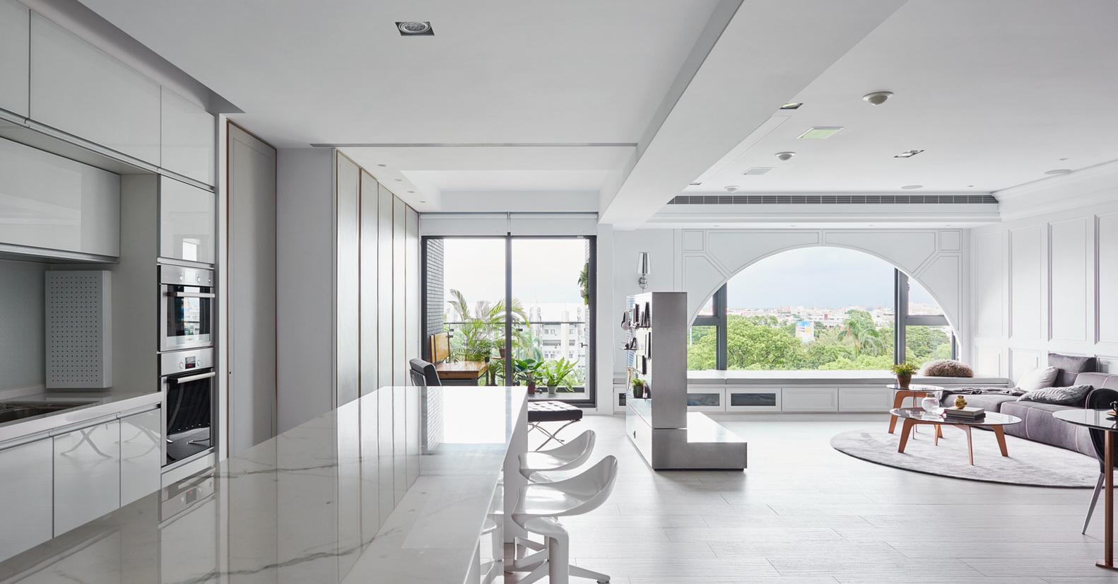 现代风格公寓厨房装修效果图