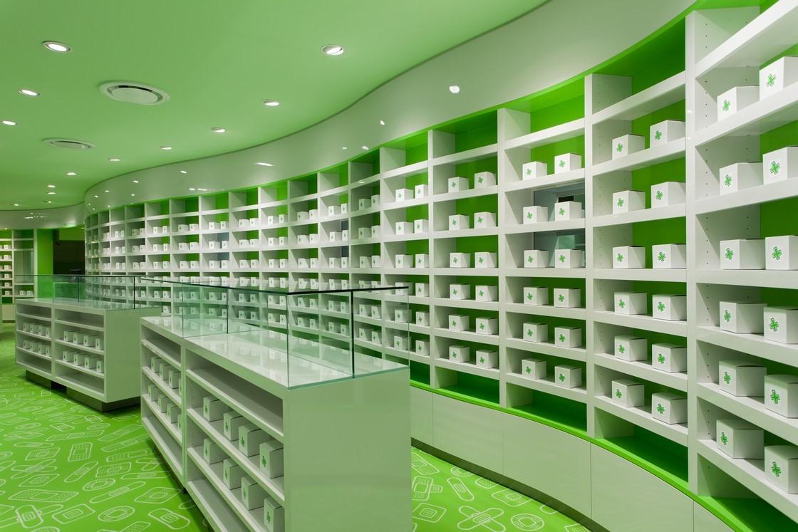 药品展柜装修效果图