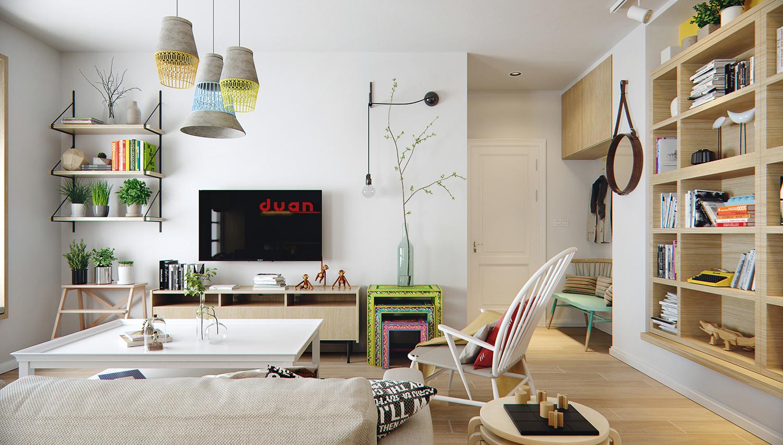 宜家风格公寓电视背景墙装修效果图