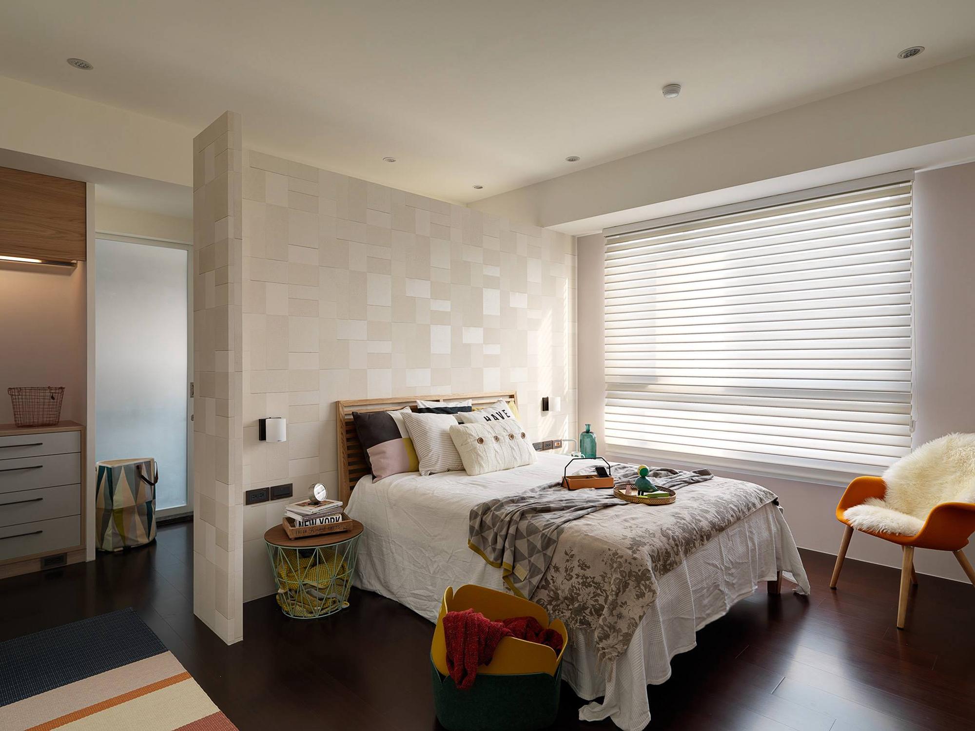 温馨多彩北欧风卧室装修效果图